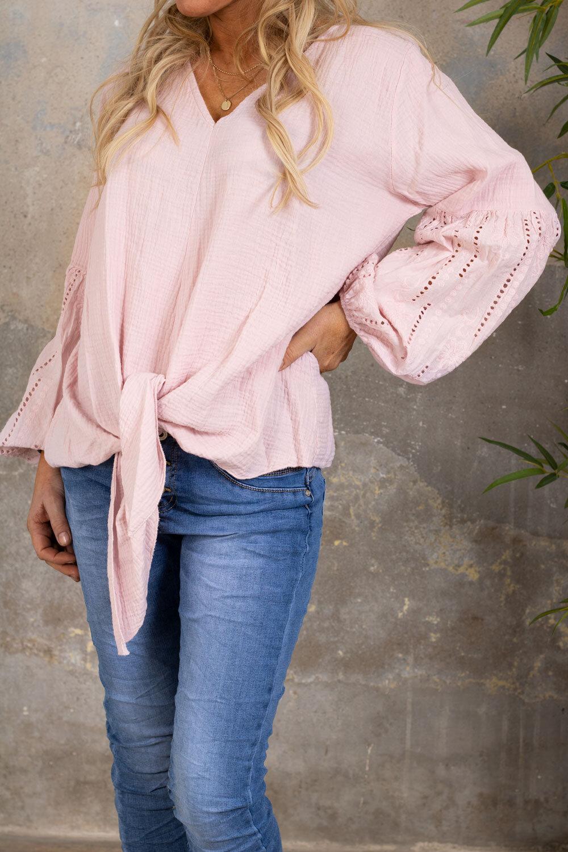 Amber tunic - Embroidery & Knit - Pink