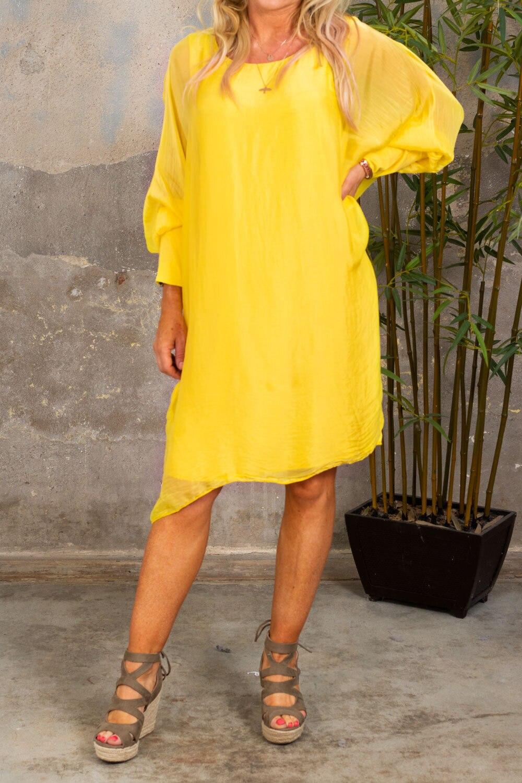 Anna - Dress with Cuff - Yellow
