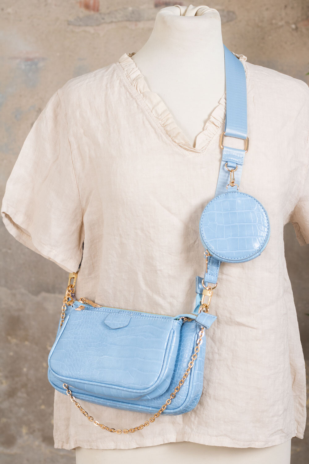 Shoulder bag set - Blue