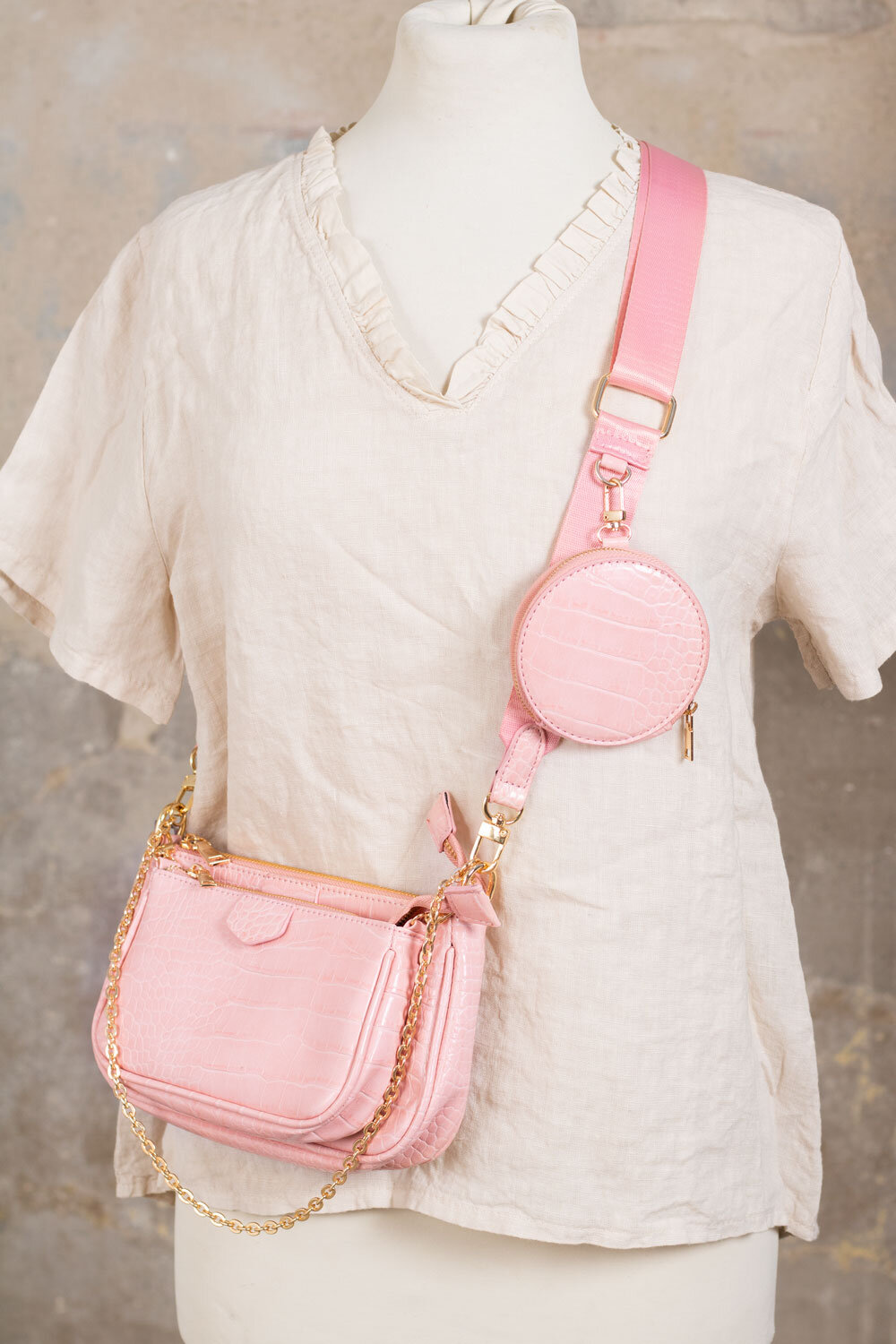 Shoulder bag set - Pink