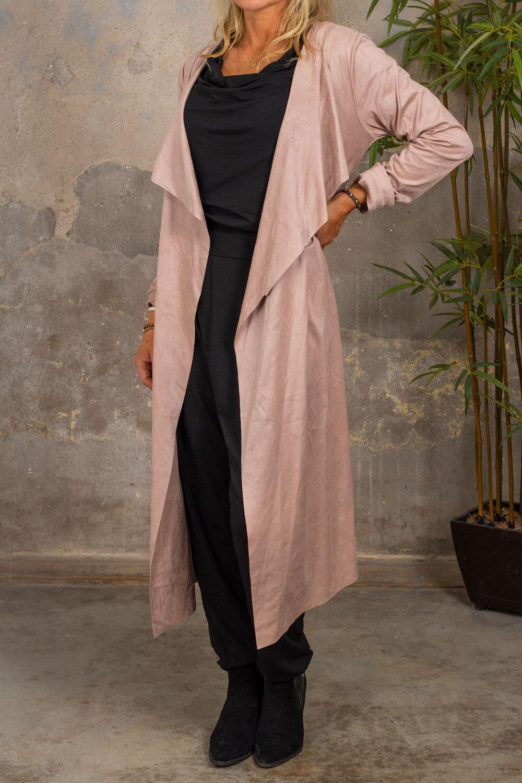 Brianna - Suede imitation - Powder pink
