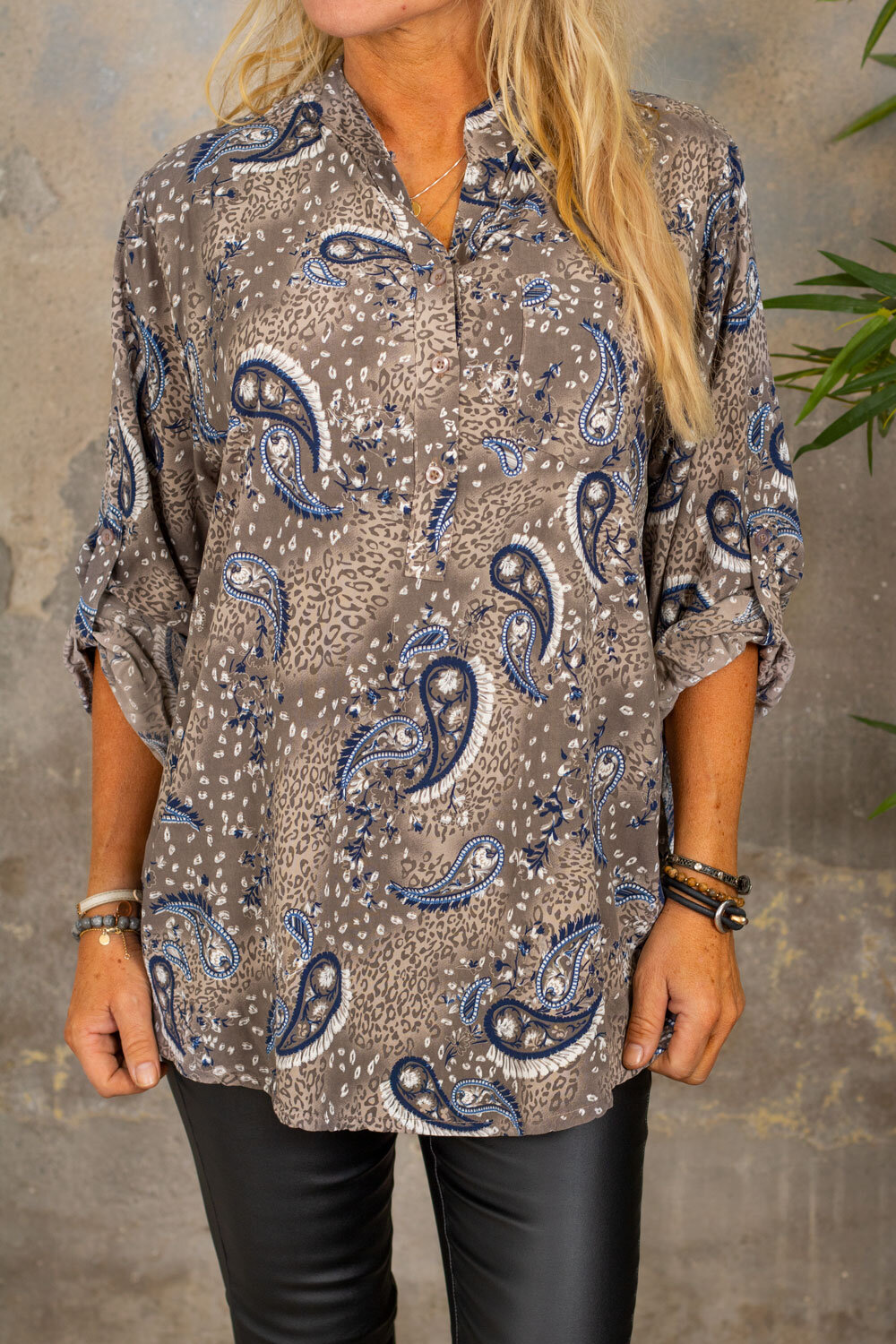 Cora Blouse - Paisley - Taupe