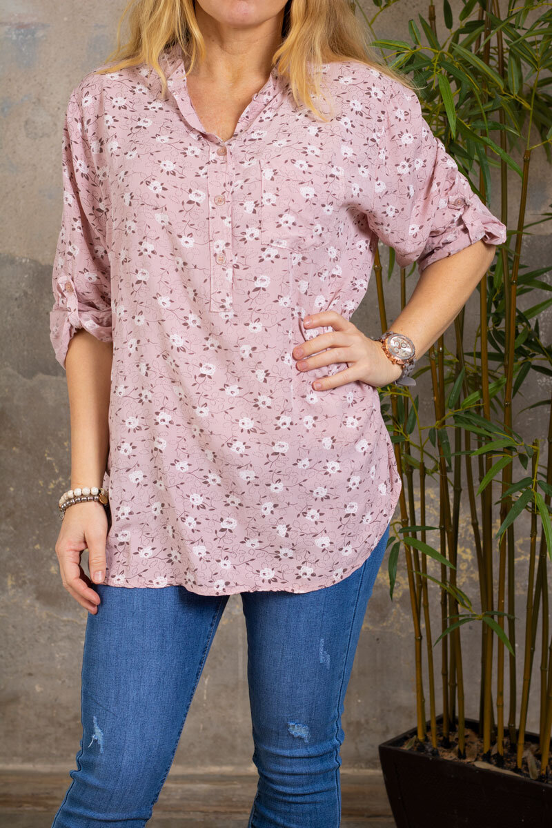 Cora Blouse - Small flowers - Pink