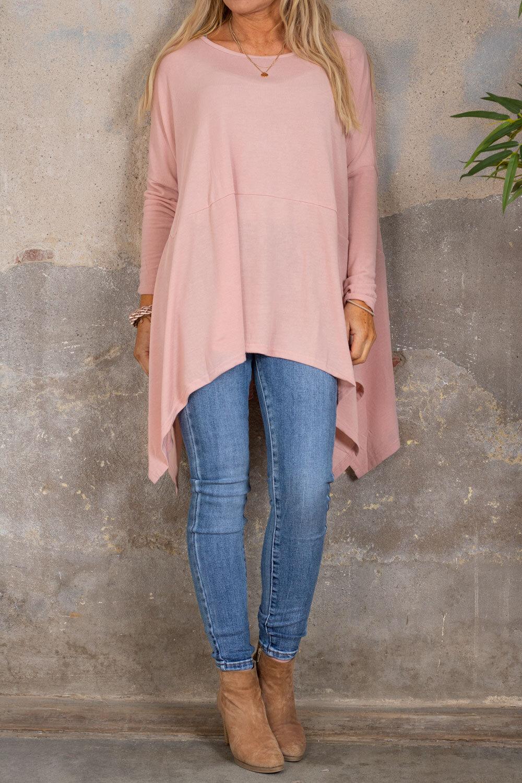Gabby Oversize sweater - Longer sides - Pink