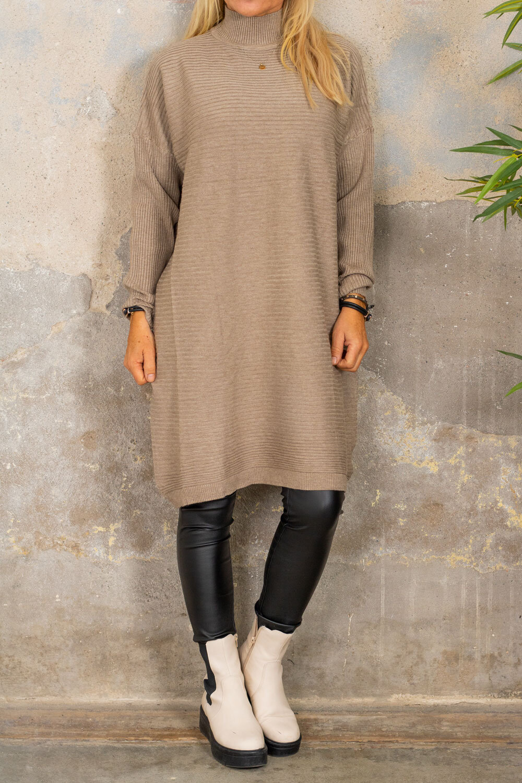 Gunilla Rib knit dress - Taupe