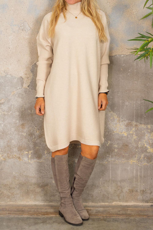 Gunilla Rib knit dress - Cream