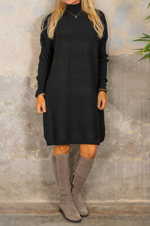 Gunilla Rib knit dress - Black