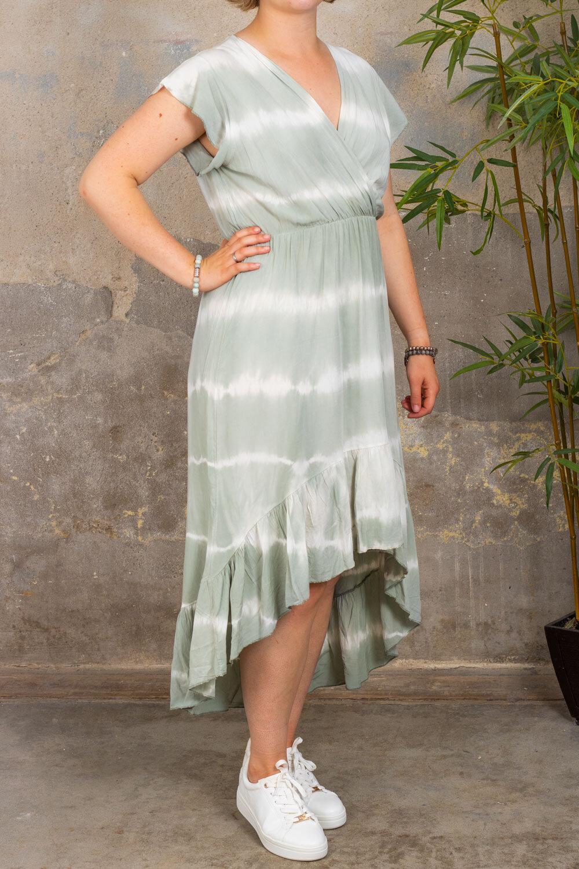 Hanna - Dress with ruffles - Batik - Khaki