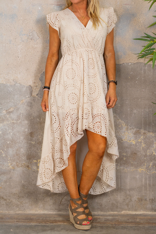 Hanna Lace Dress - Beige