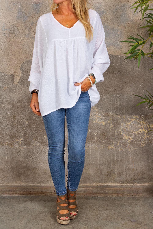 Hillevi - Airy tunic - White