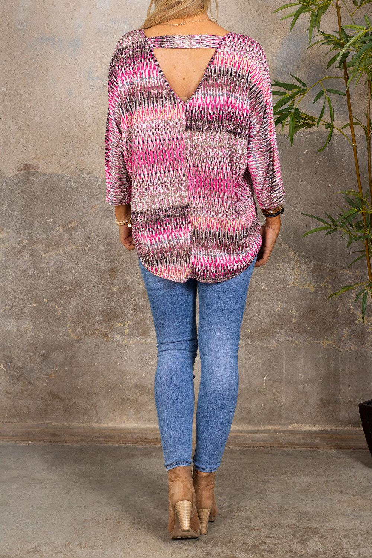 Isadora Top - Patterned - Pink