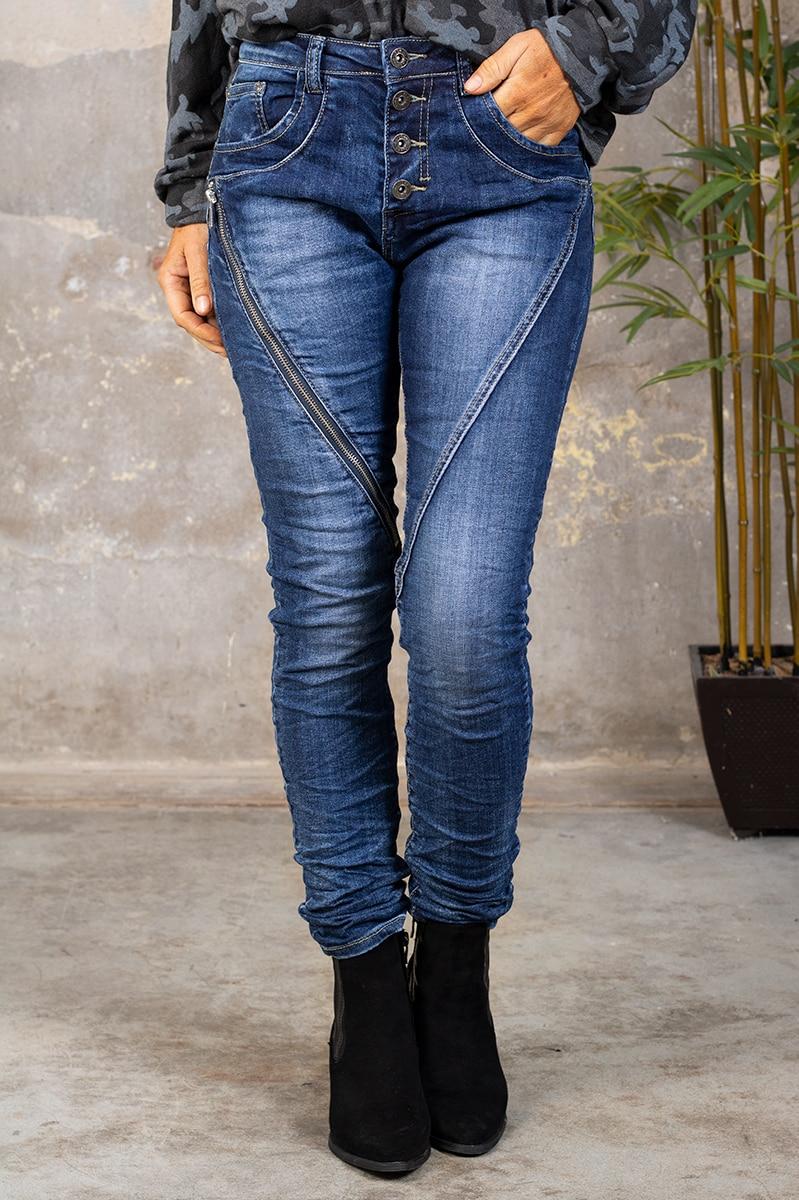 Jeans 98209 - Lang dragkedja - Denim fram