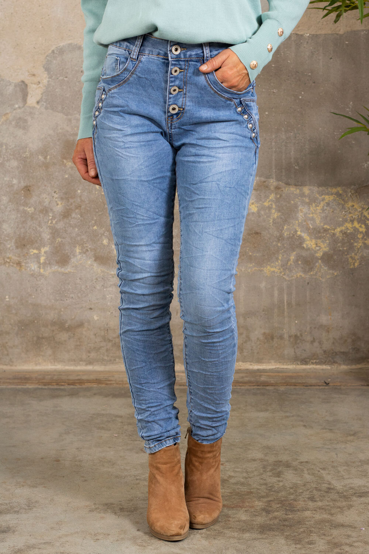 Jeans JW9149 - Rivets - Light wash