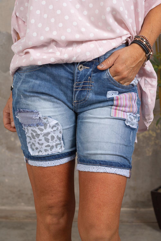 Jeans shorts 1629-L - Patches - Denim