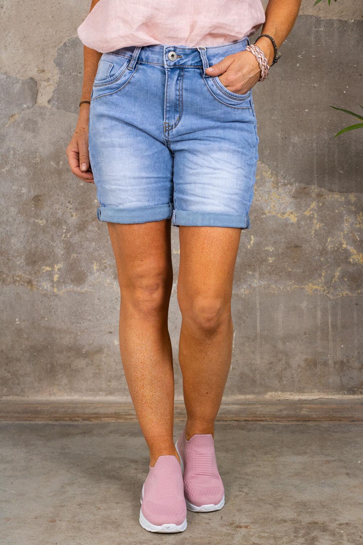 Jeans shorts S26155 - Light wash