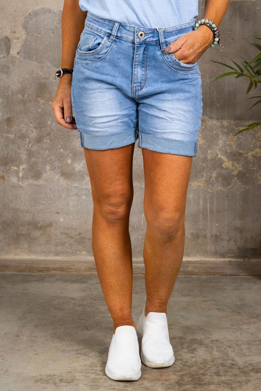 Jeans shorts S6456 - Light wash