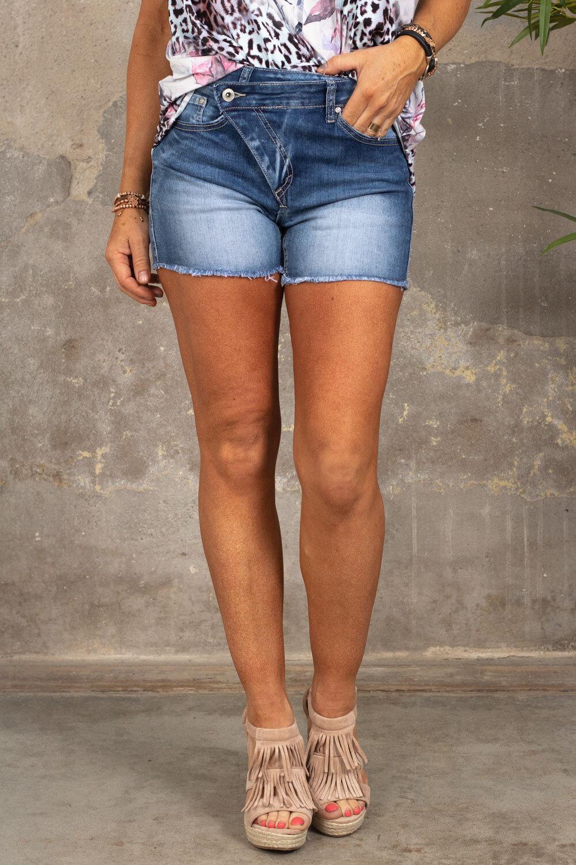Short-sleeved shorts - 1854-1 - Denim