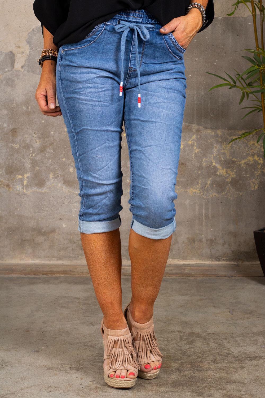 Jogging Jeans - Three Quarter PC26132 - Denim
