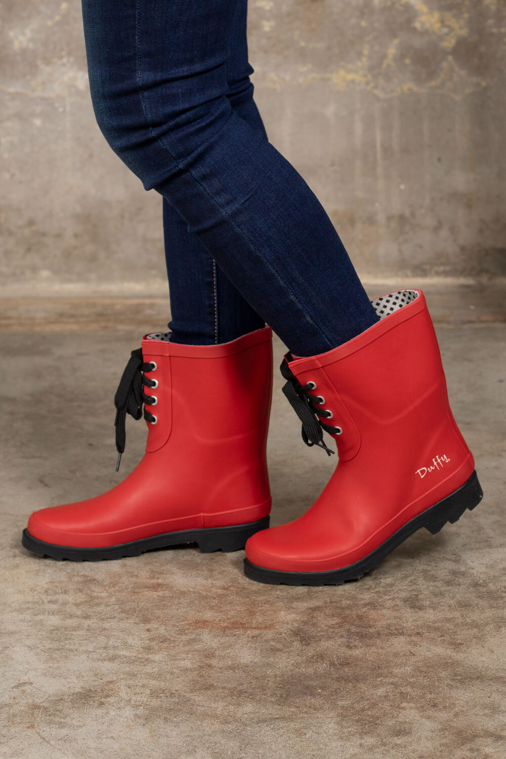 Low rubber boots - Red