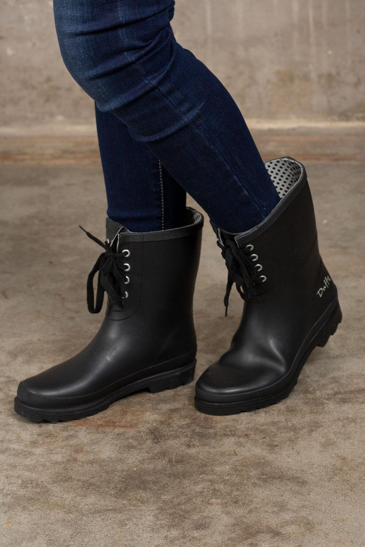 Low rubber boots - Black