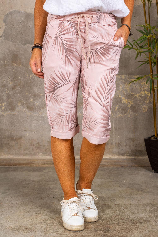 Long stretch shorts 5585 - Leaf - Pink