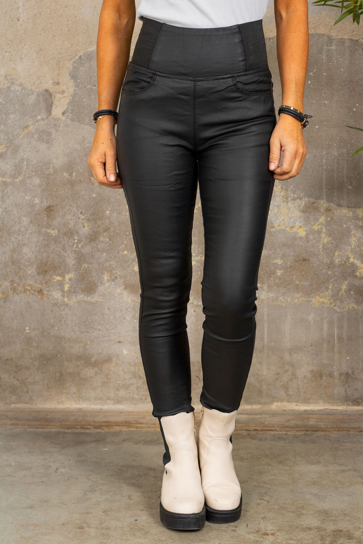 Leggings Waxed E034 - Black
