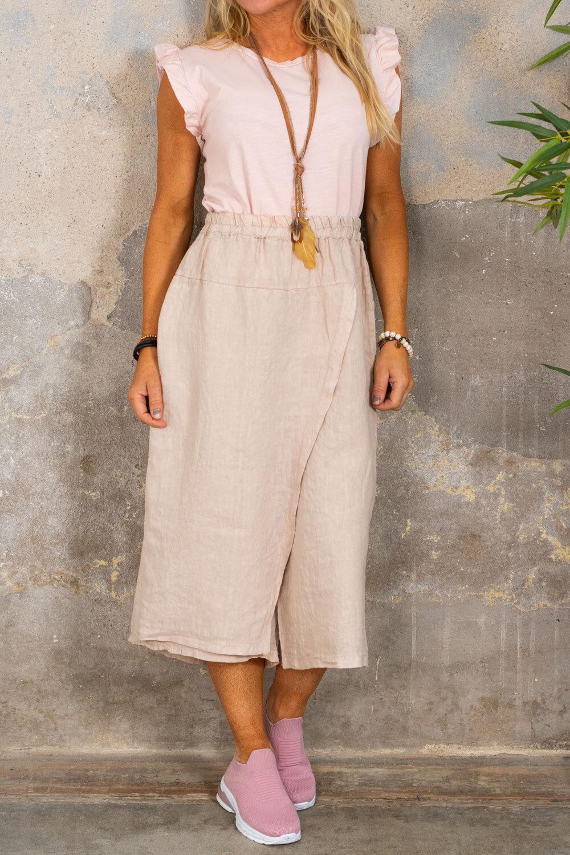 Linen trousers - Wrap - Sand