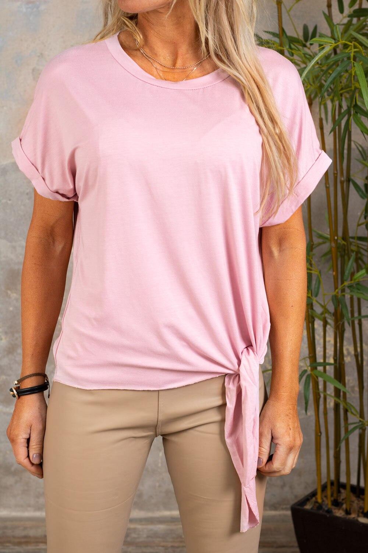 Minna Tie T-shirt - Pink