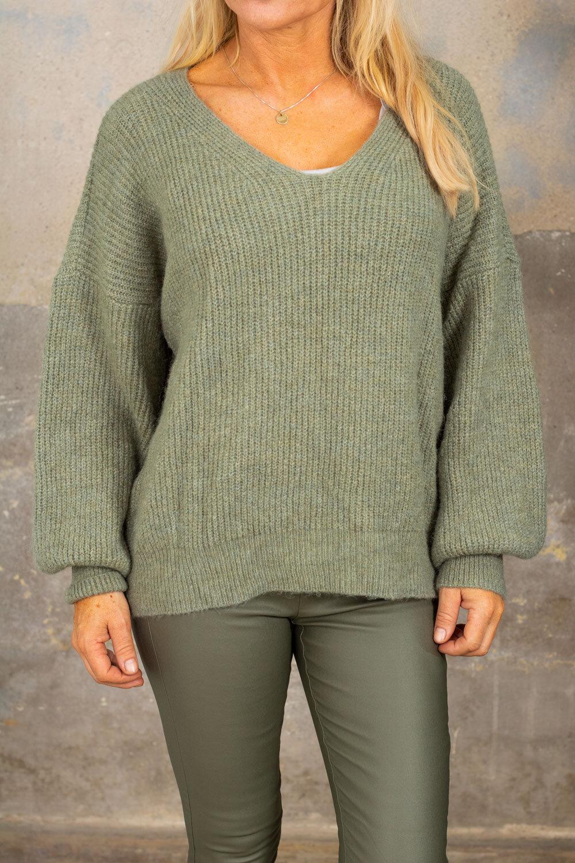 Mira Knitted sweater - Khaki