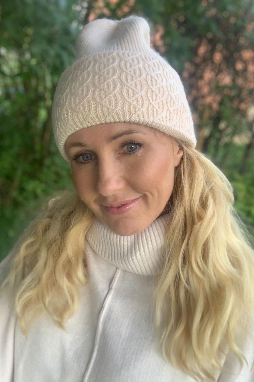 Knit hat braided - Beige