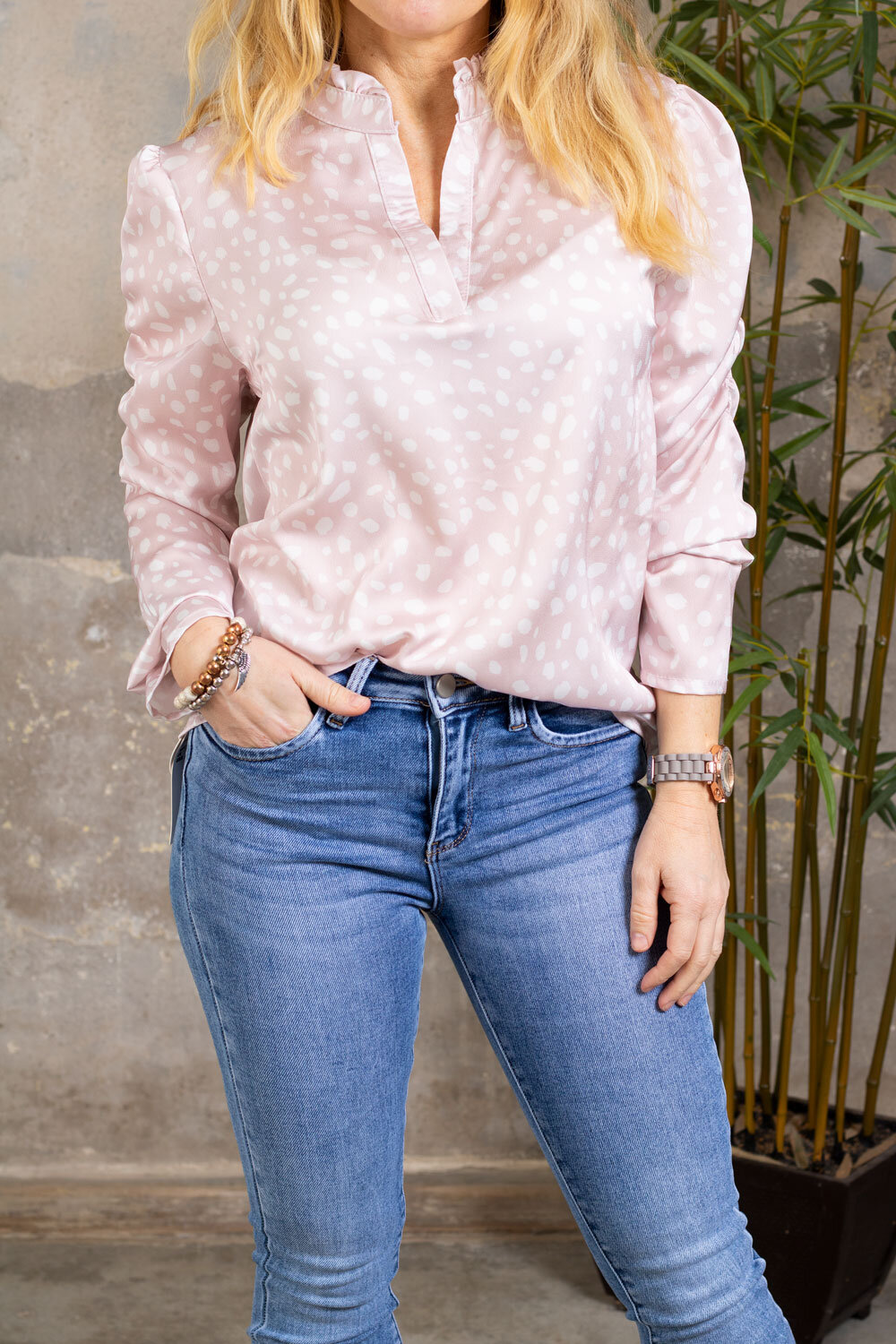 Nanne blouse - Dotted - Pink