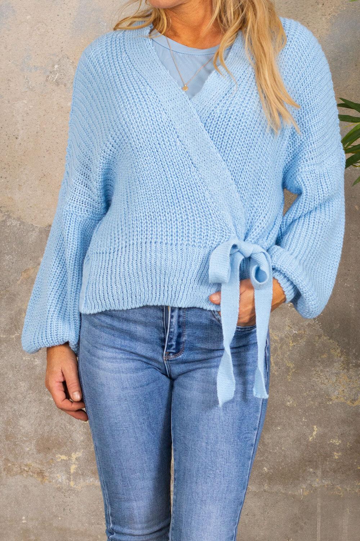 Nemy Knitted cardigan - Knit - Blue