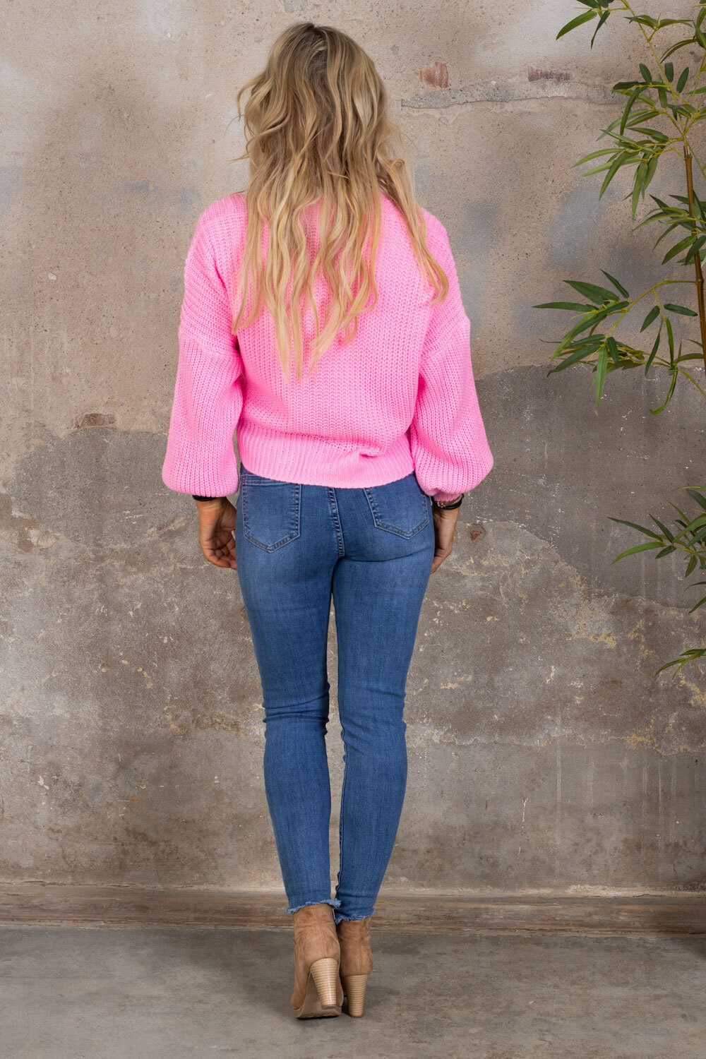 Nemy Knitted cardigan - Knit - Pink