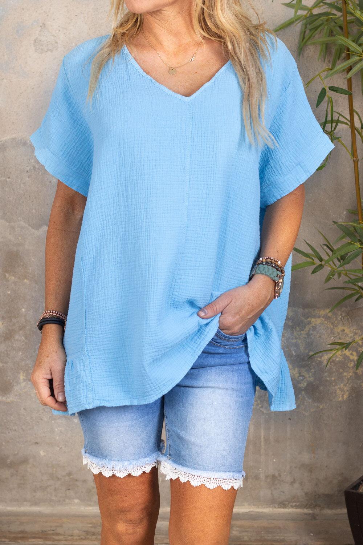 Ninni - Oversize top - Sky blue