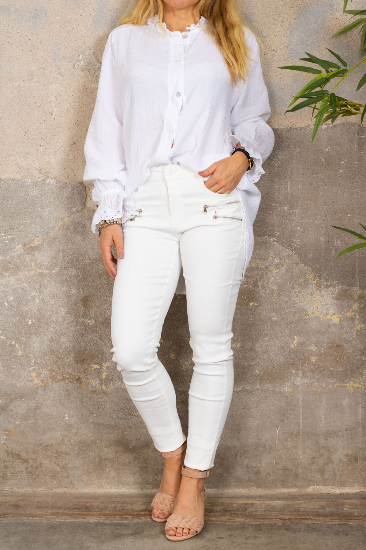 Petra blouse - Lace details - White