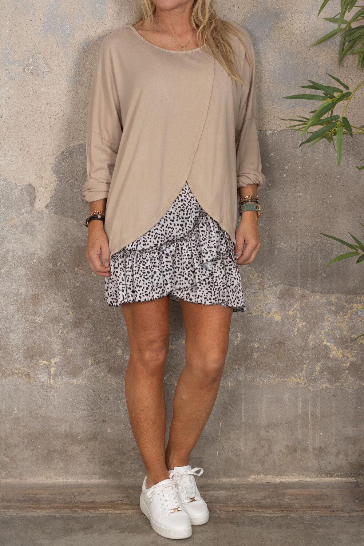 Rhonda - Wrap sweater - Beige