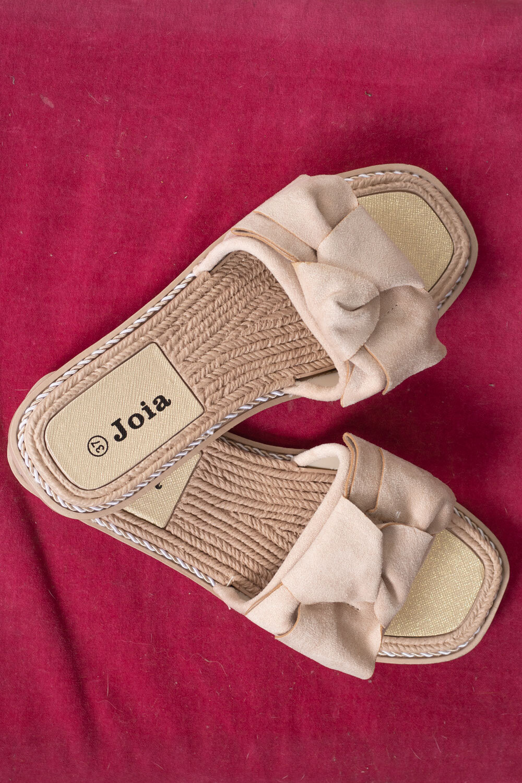 Sandals LS-101- Bow - Beige