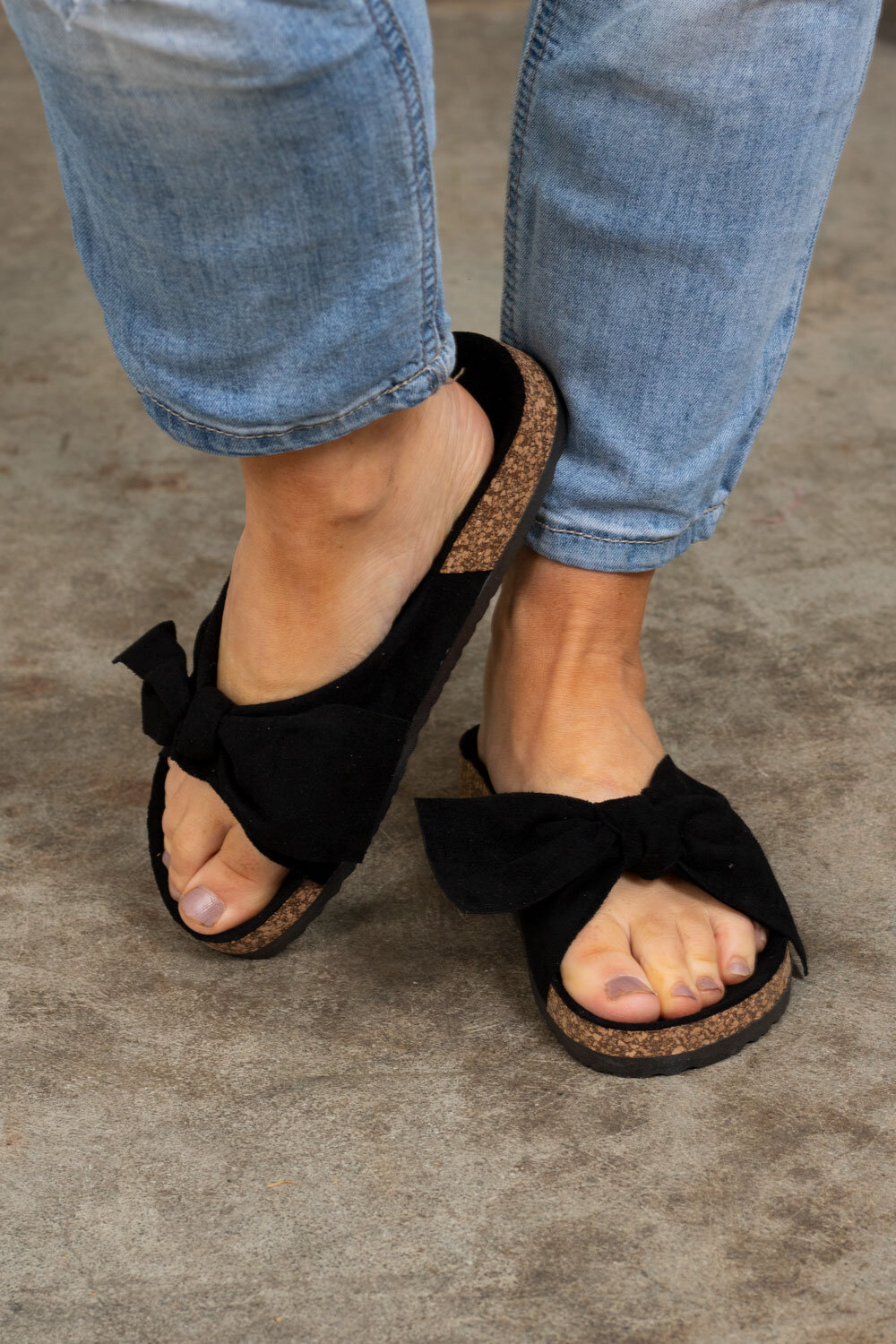 Sandals with Bow - 231 - Black