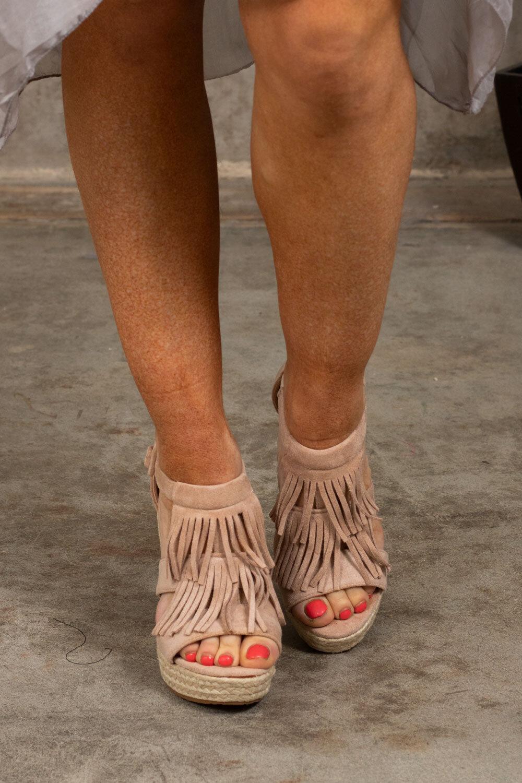 Sandal Wedge Heel - 39 - Beige