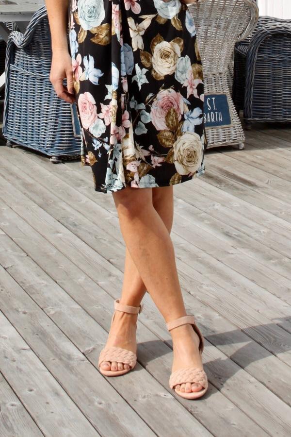 Sandal high-heel Braided - Nude