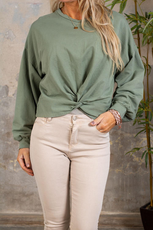 Selma Soft Sweater - Knot - Khaki