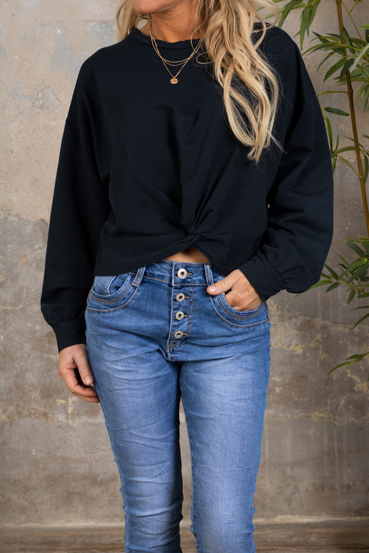 Selma Soft Sweater - Knot - Black