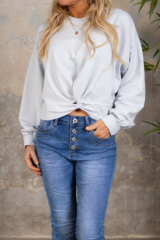Selma Soft Sweater - Knot - Light Gray