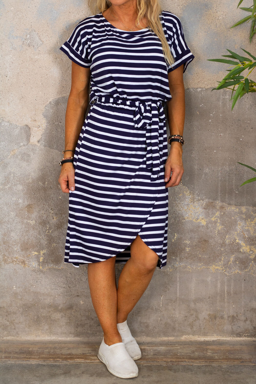Siv soft dress - Striped - Navy