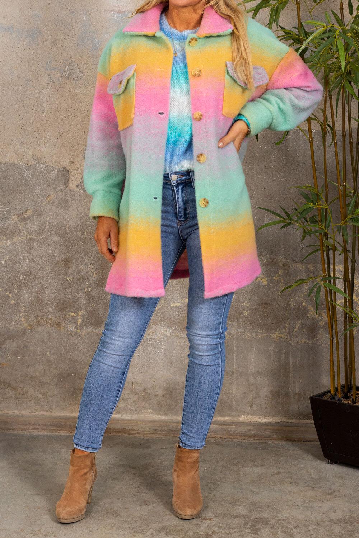 Shirt jacket - Rainbow