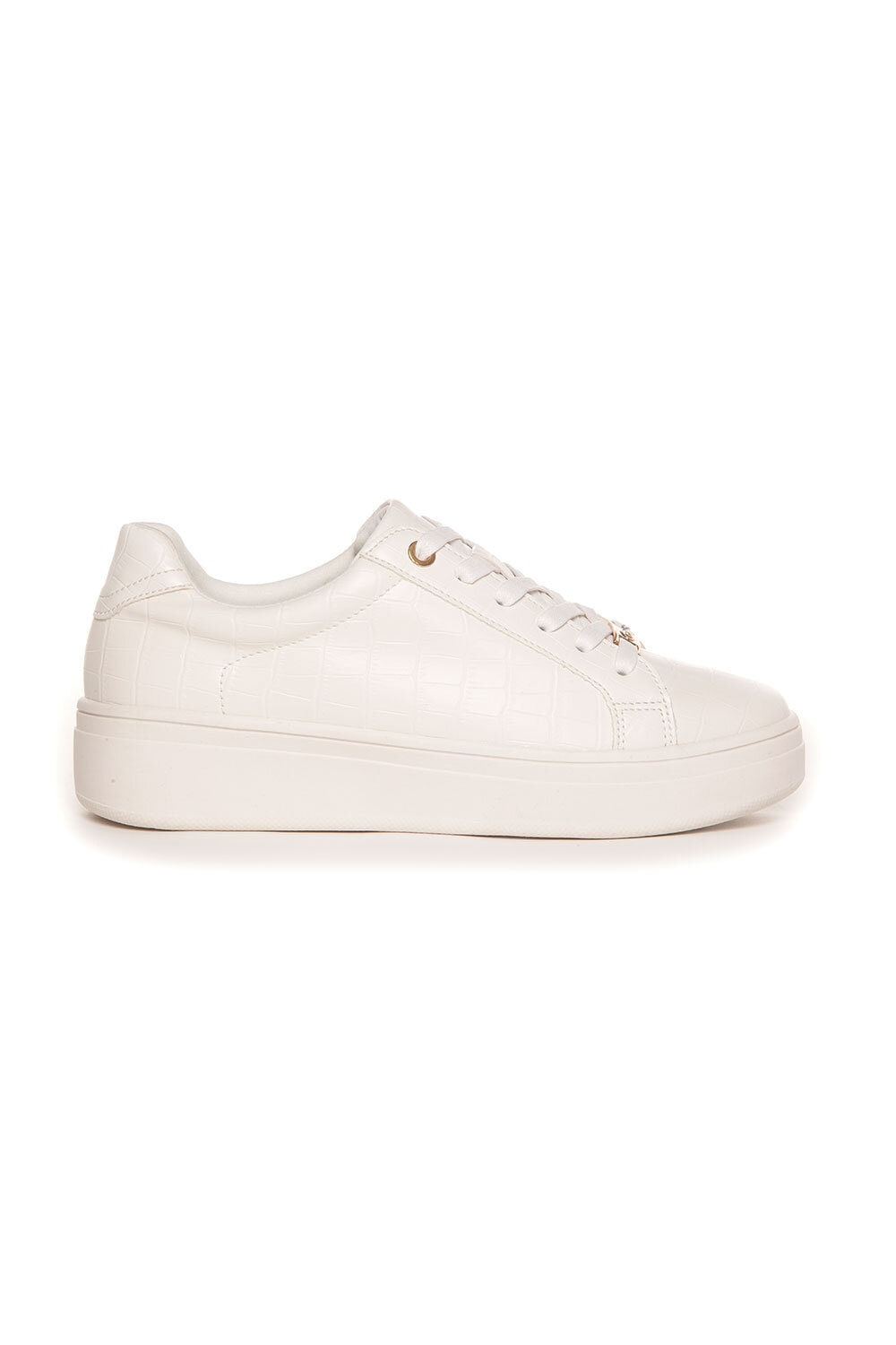 Sneakers Gold detail - White