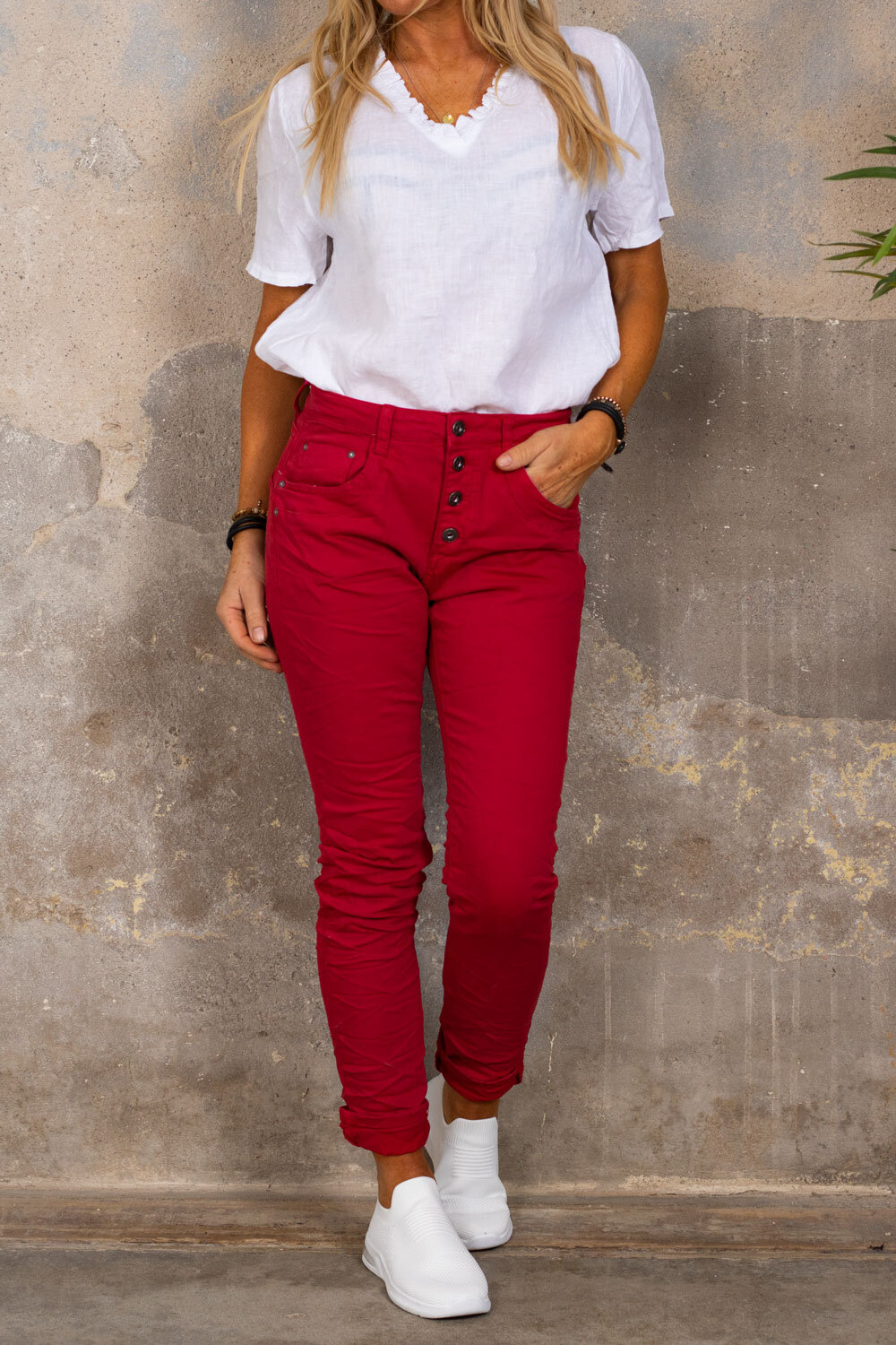 Stylish trousers 90073 - Red
