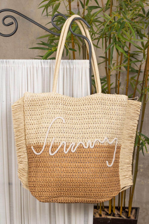 Straw bag - Sunny - Beige/Camel