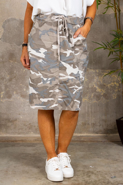 Stretch dress - Camouflage - Beige