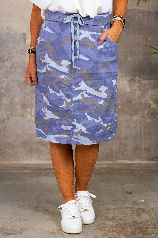 Stretch dress - Camouflage - Blue